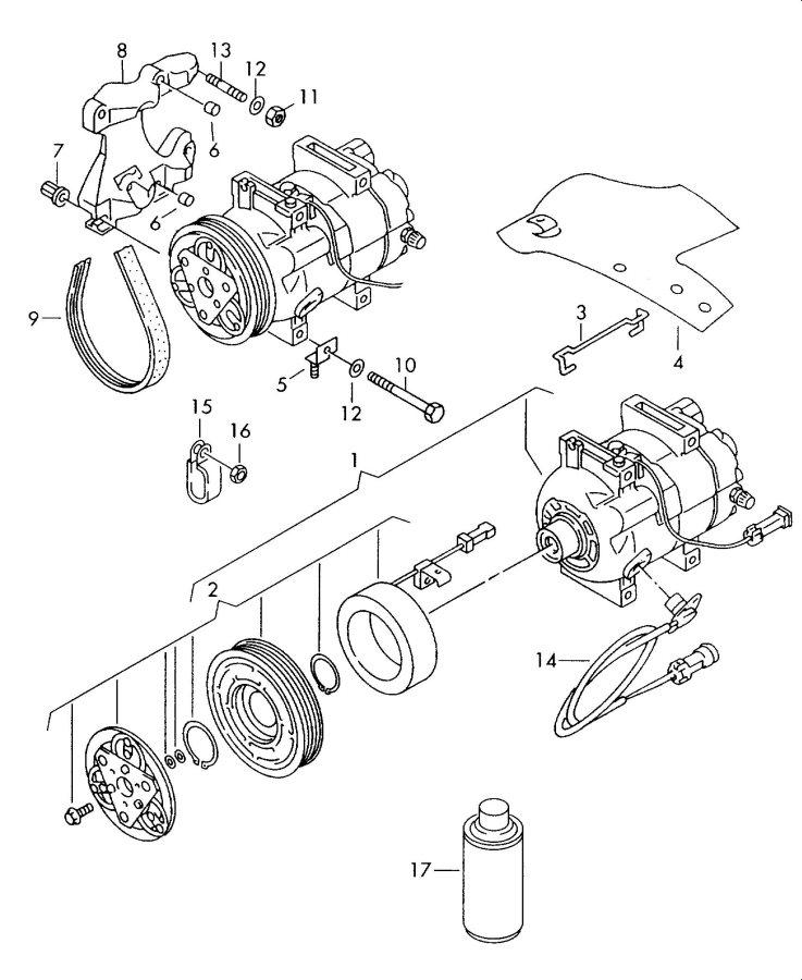 Audi 90 Belt, V-Ribbed (A/C). AIR CONDITIONER. VRIBBED