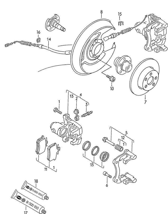 '95 90 Quattro rear left caliper replacement bolts