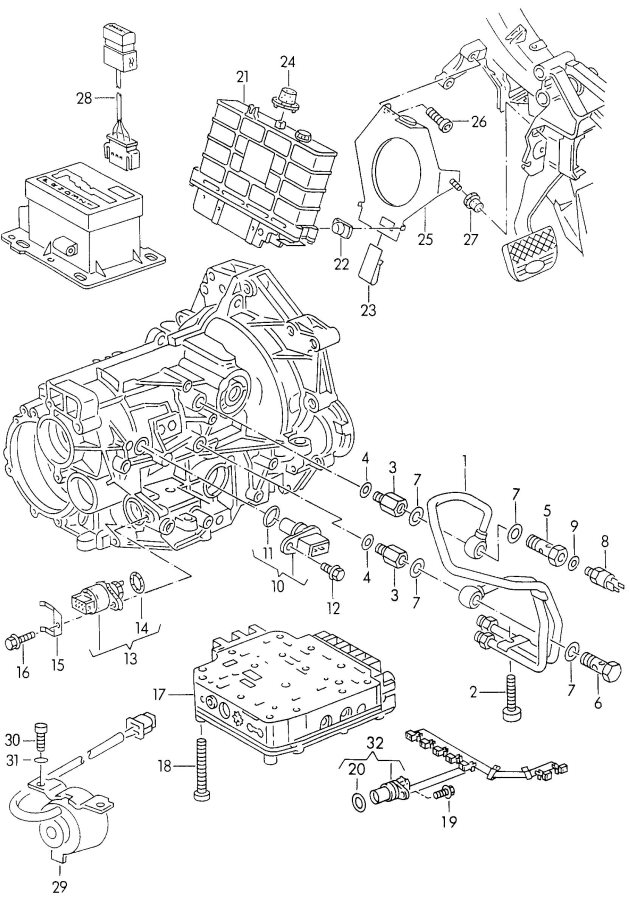 Audi Automatic transmission control electronic control