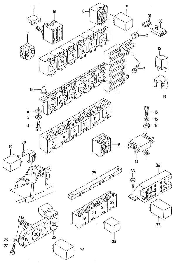 1989 audi 4000 s main fuse box diagram