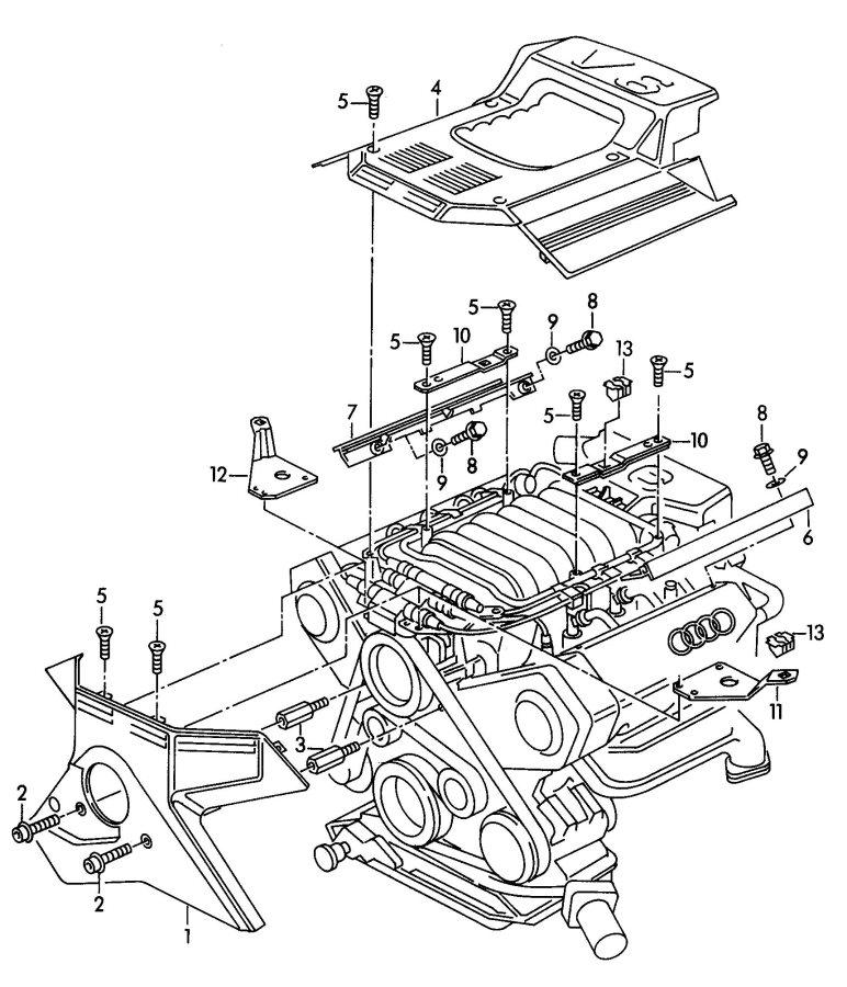 1997 Audi A4 Quattro Avant 2.8L Cover for intake manifold
