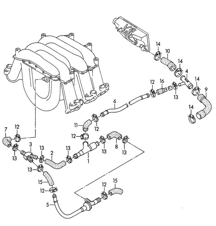 Audi 100 Quattro Vacuum hose (for modified vehicles