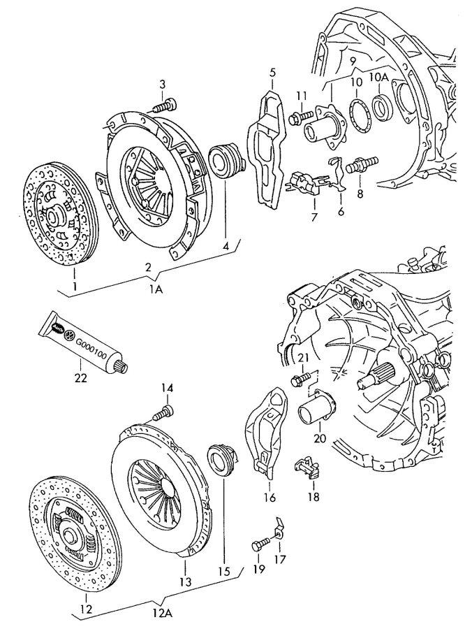 2007 Audi S4 Avant Clutch operating lever. CLUTCH LEVER