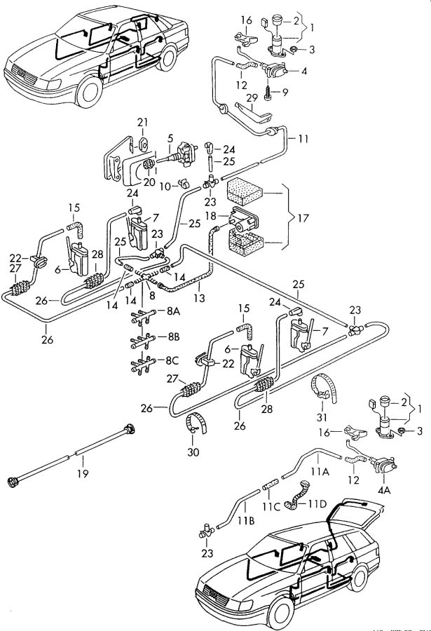 Audi 100 To fit use workshop material shorten if necessary