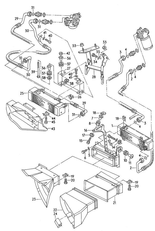 Audi Oil cooler