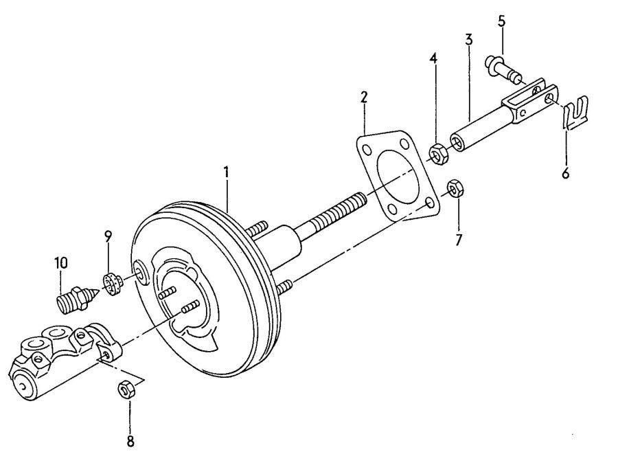 1994 Audi 100 Quattro Brake booster brake pressure