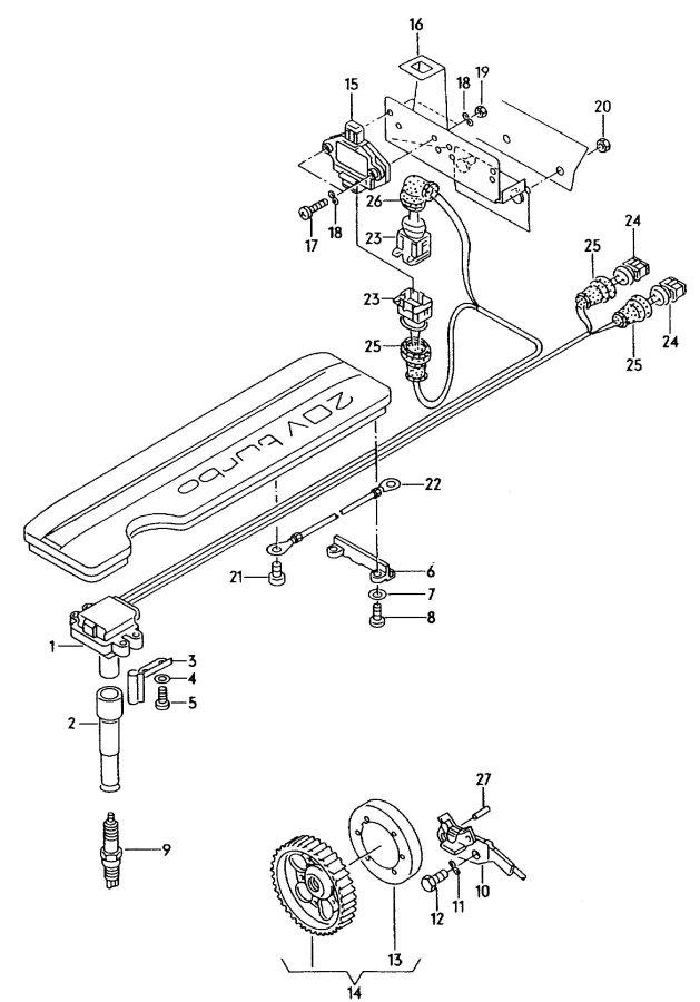 Audi A6 Quattro Plug, Spark. PLUGS. Sensorhall, Sens, Cam