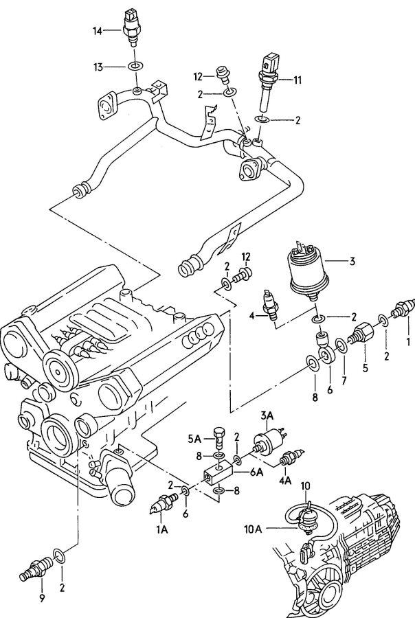 1995 Audi 90 Quattro Oil pressure switch oil pressure