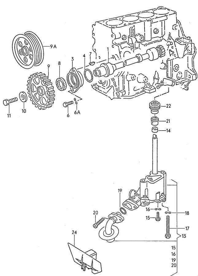 Pompa oleju Audi A4,A6,VW Passat 1.8/T 02.96r-11.00r
