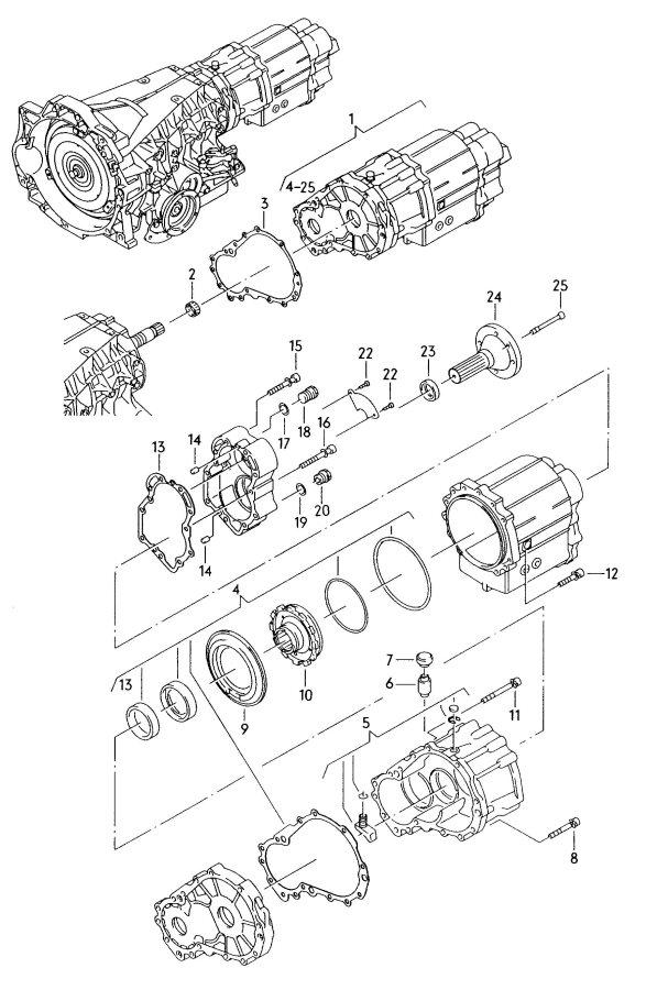 Audi Transfer box for automatic transmission