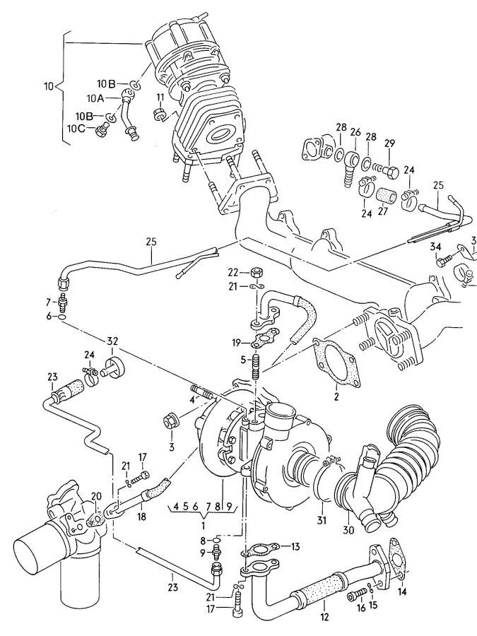 Audi Exhaust gas turbocharger wastegate