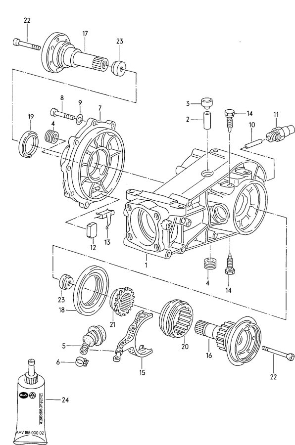 Service manual [Rear Diff Axle Removal 1991 Audi Coupe