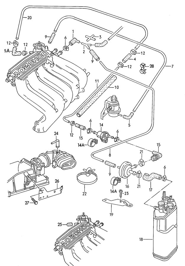 Service manual [1991 Audi 200 Evap Canister Solenoid