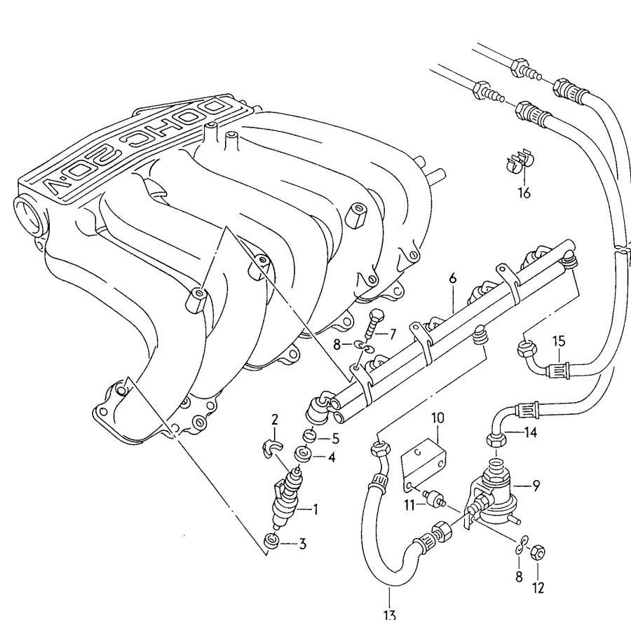 Audi Fuel line pressure regulator