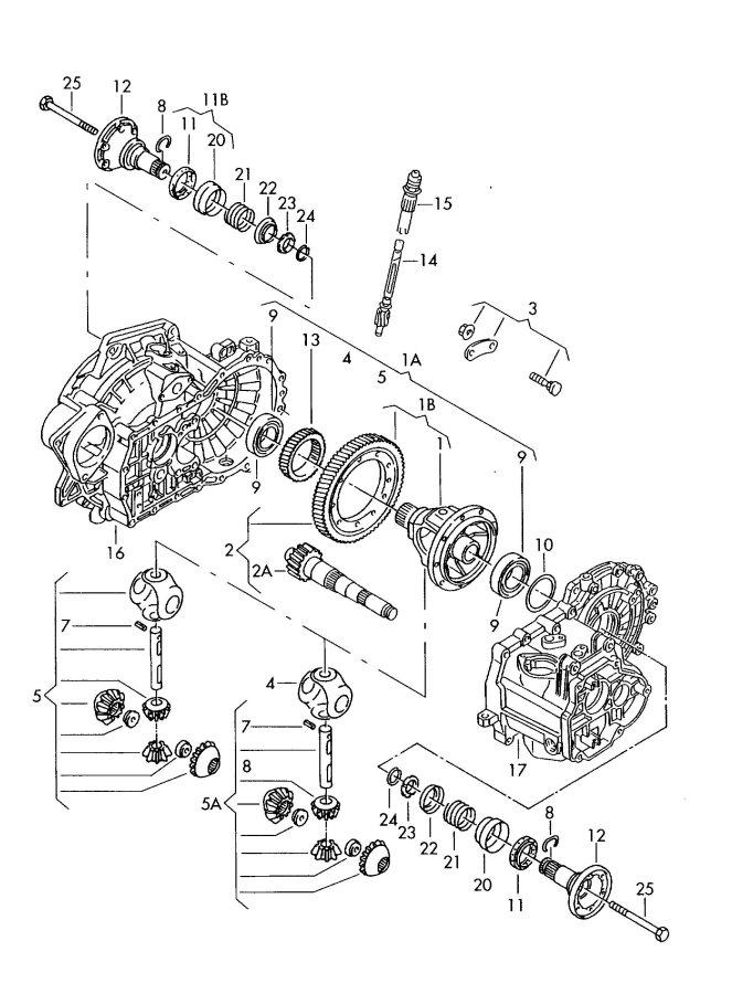 2006 Audi TT Roadster Comprising: 1 set of mounting parts