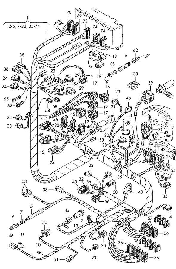 2004 Audi RS6 Transmission module horn flatcontact housing