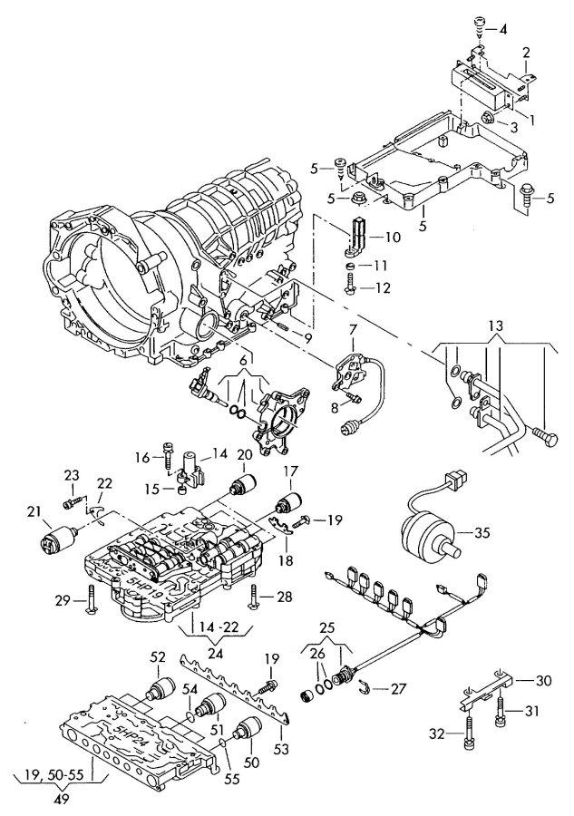 1997 Audi A8 Quattro Automatic transmission control