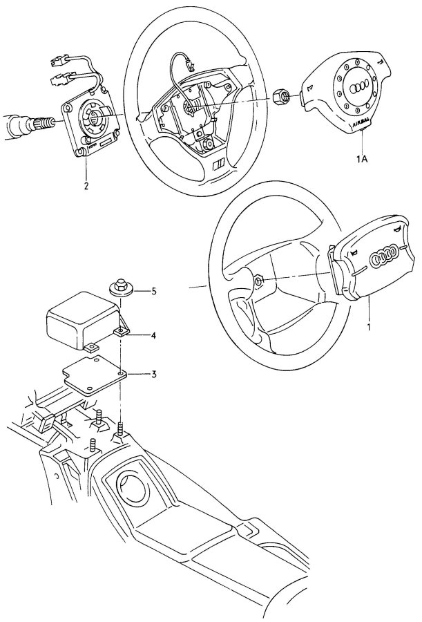 Audi A4 1 set of single wires each sleeve (female