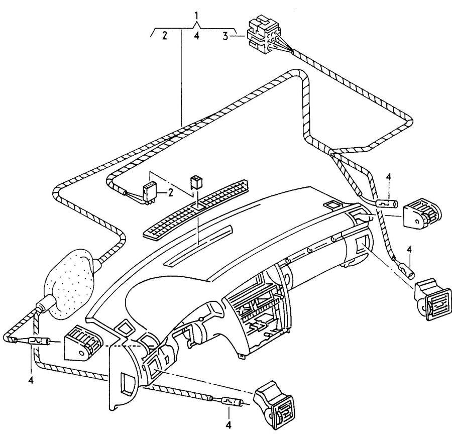 2001 Audi A8 Quattro Connecting piece ashtray light anti