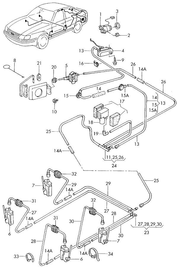 Audi A8 Quattro Elbow backrest lock. SEAT BACKREST LOCK