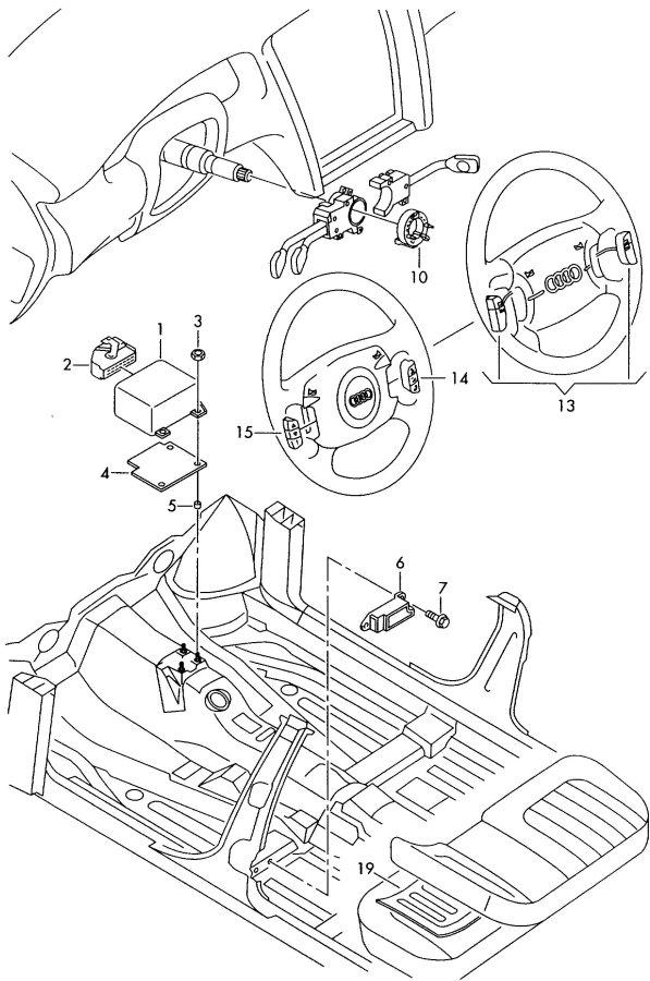 Audi A8 Clockspring driver,passenger and side sensor for