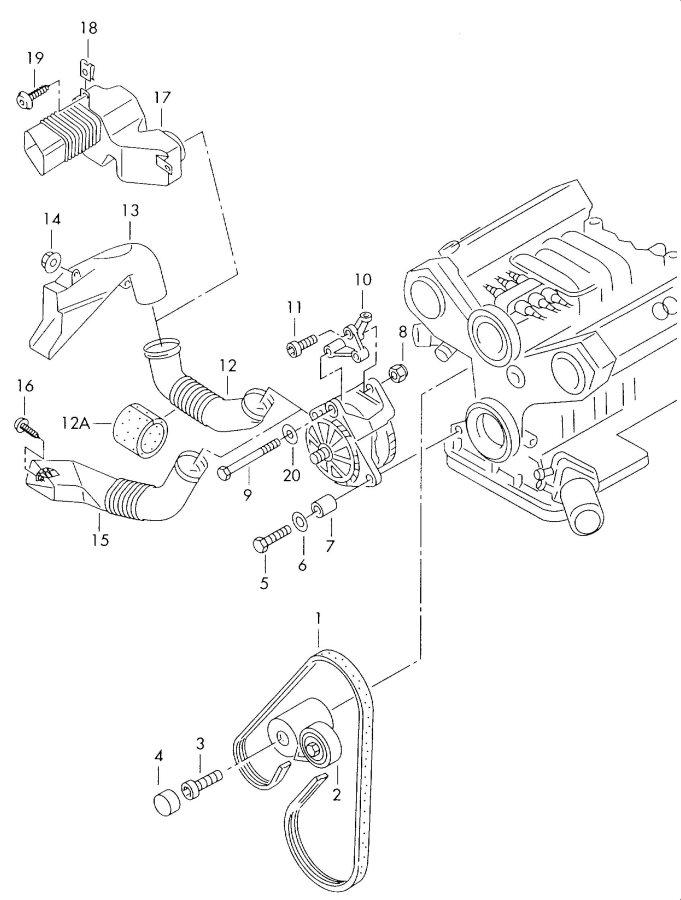 Audi S4 Avant Belt, V-Ribbed (A/C). AIR CONDITIONER
