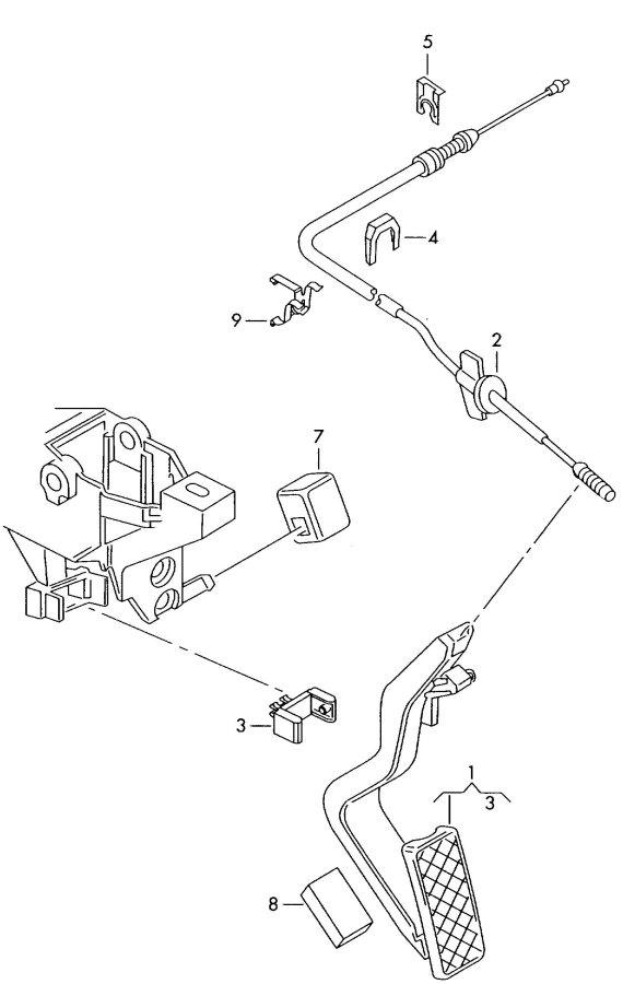 1999 Audi A6 Avant Accelerator cable. GAS CABLE