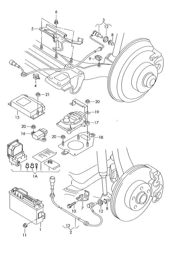2002 Audi A4 Avant Bracket for brake hose for wheel disc