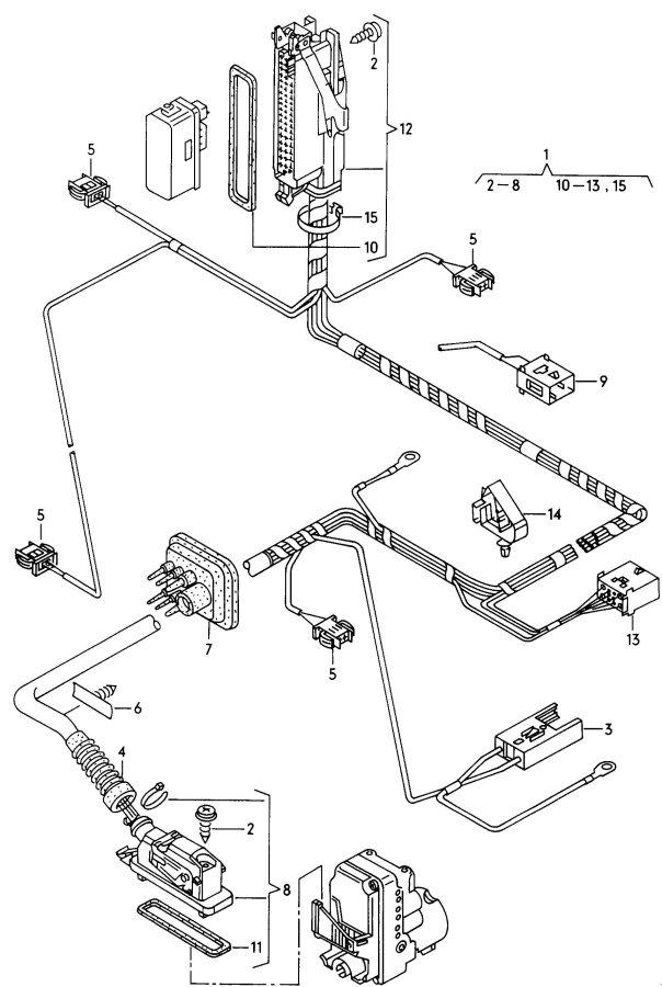 Audi A4 Additional brake light adapter wiring harness