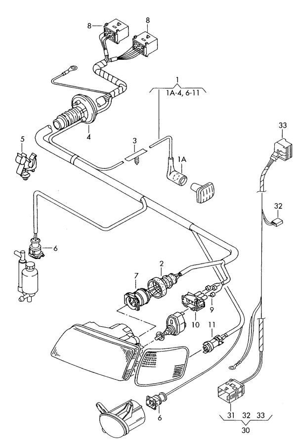 2001 Audi A4 Self levelling sensor reservoir with level