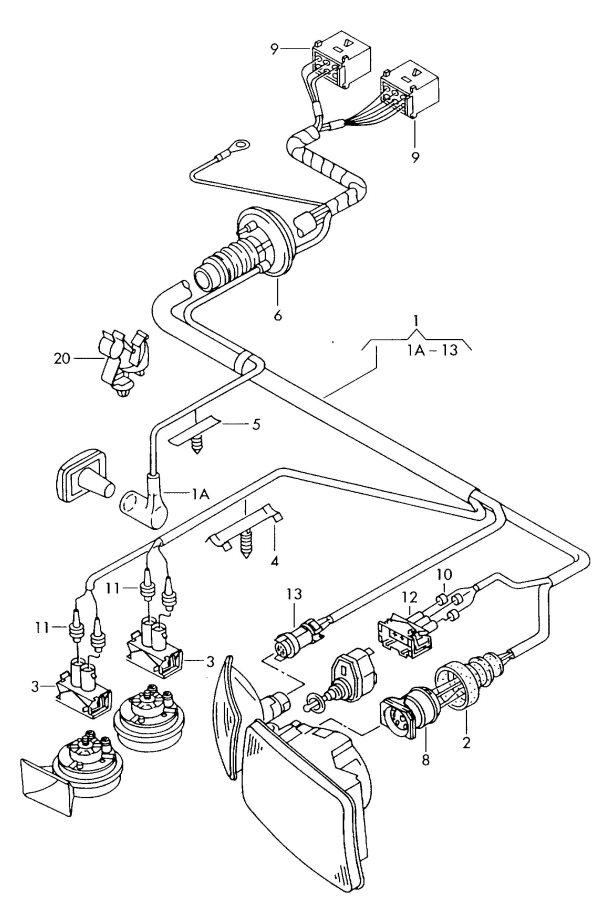 2002 Audi A4 Quattro Avant For radiator flat contact