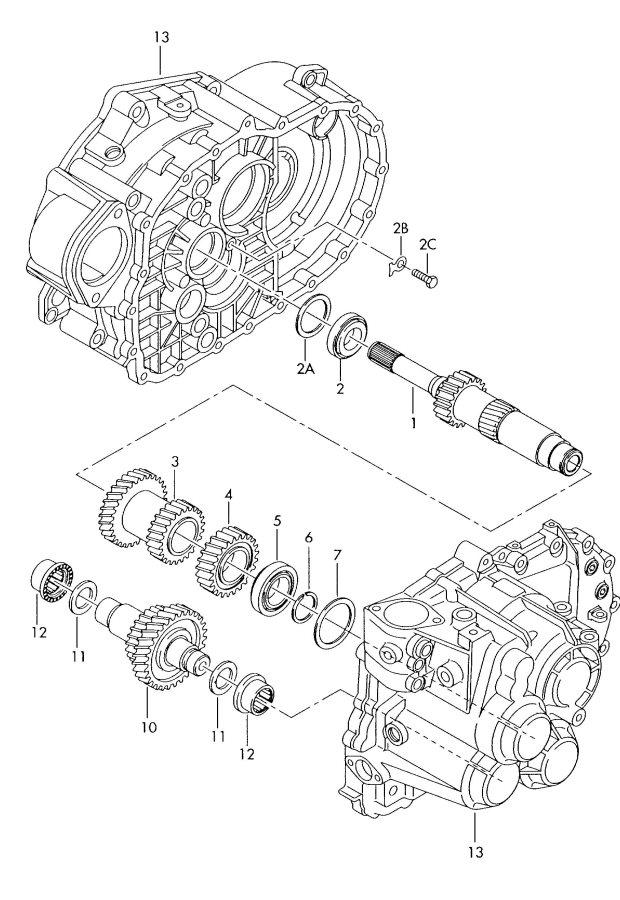 2001 Audi TT Roadster Reverse gear shaft. REVERSE GEAR