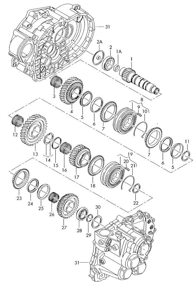 Synchronring Zahnräder Audi TT Coupe Roadster A3 Sportback
