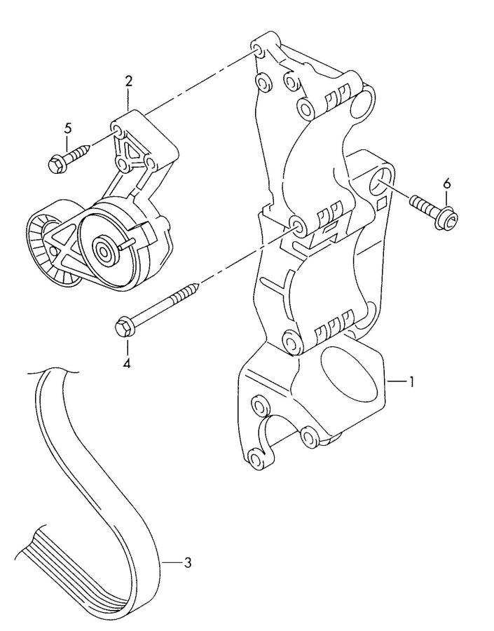2001 Audi TT Roadster V-belt, double ribbed (for a/c