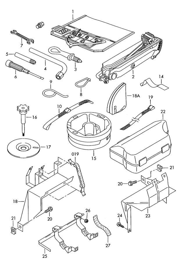 2001 Audi A6 Quattro Tool box. Tools, Synnting