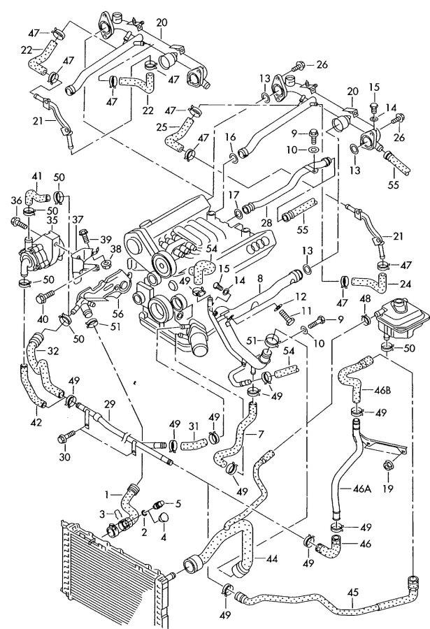 Vw Pat 2 8 V6 Engine Diagram, Vw, Free Engine Image For