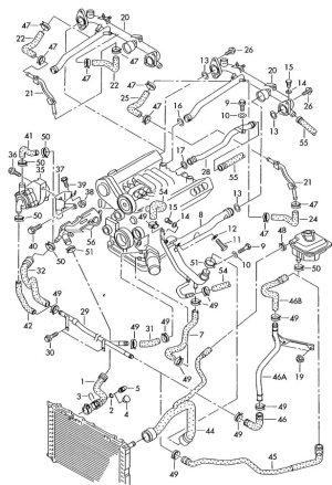 99 A4 28 coolant reservoir hoses  AudiForums