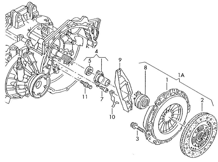 Audi TT Roadster 1.8L Clutch