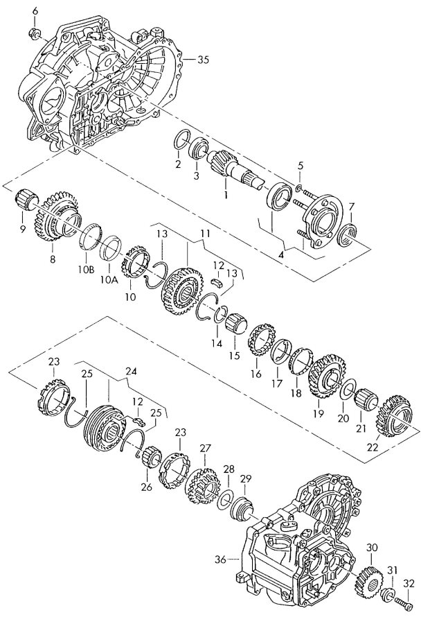 2001 Audi TT Coupe Synchronizer ring inner also use