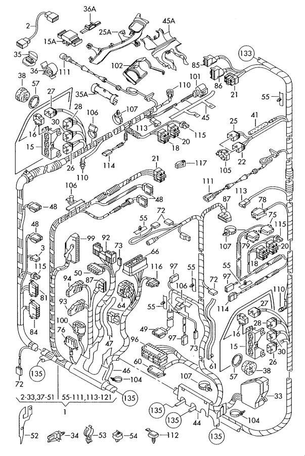 2001 Audi TT Coupe Wiring conduit self levelling sensor