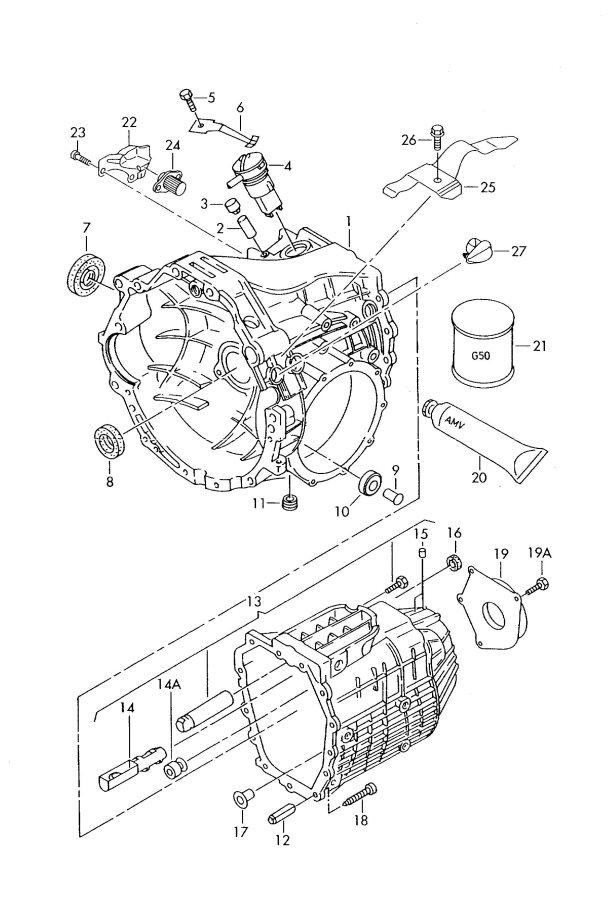 1999 Audi A4 5-AT Transmission case. Dhydhw, cwzddkdhx