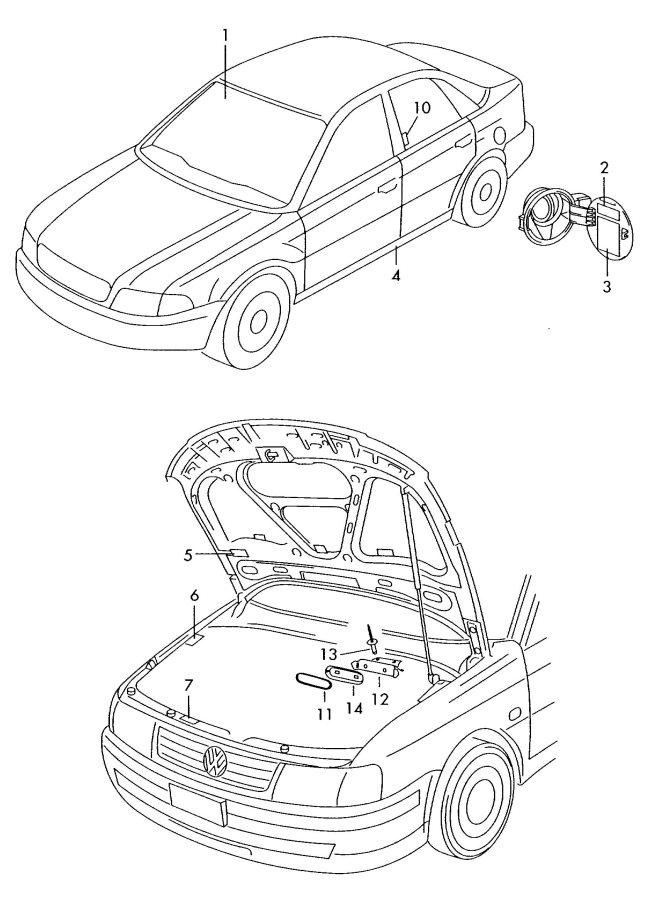 2004 Audi S4 Avant Fuel Information Label. 4.0 liter. GBF