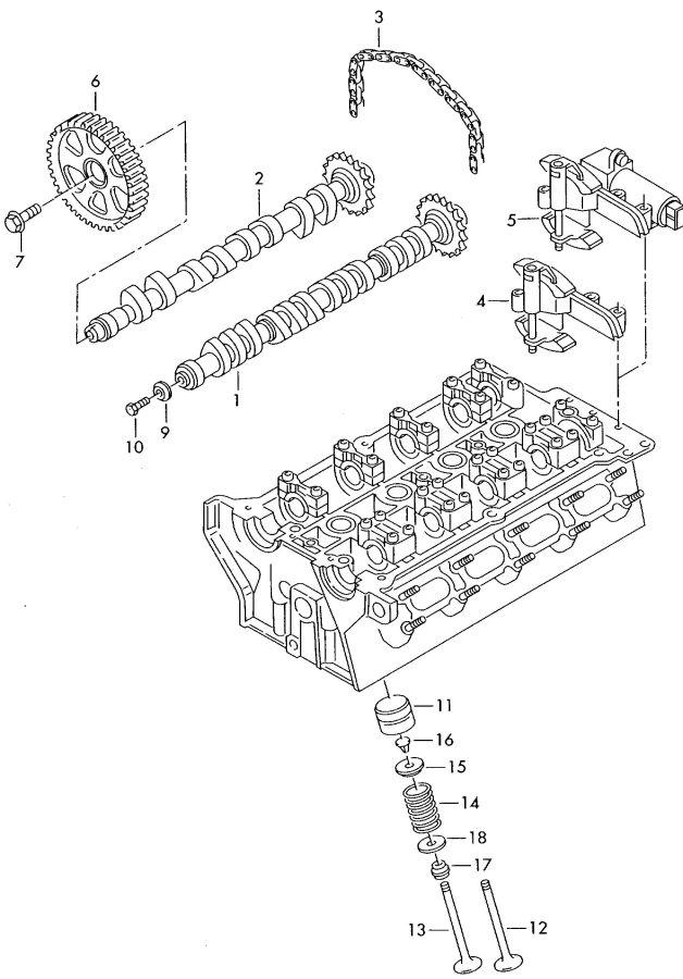 2001 Audi A4 Quattro Avant Camshaft. AEB. Einlass. Inlet
