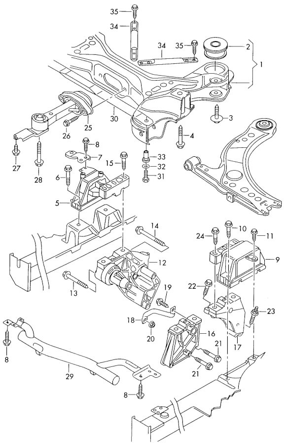 2004 Audi TT Coupe Hydro-mounting gearbox mounting