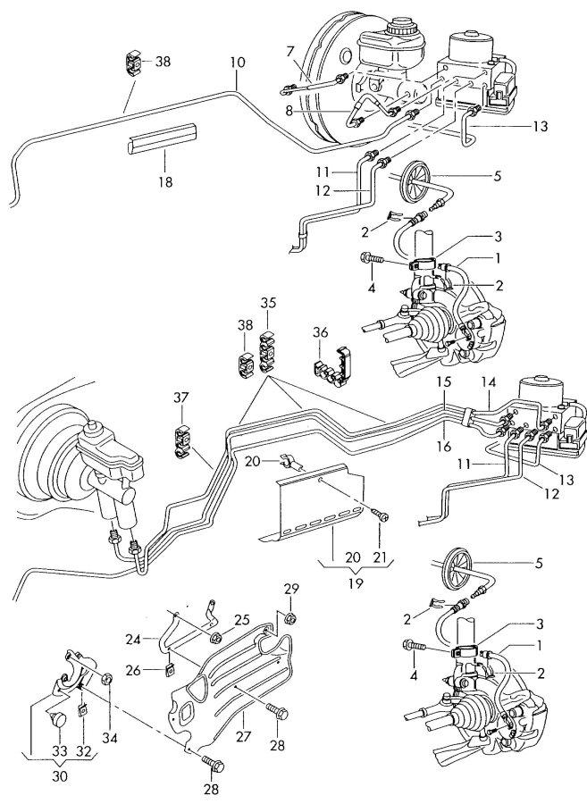 2004 Audi TT Roadster Brake line from brake master