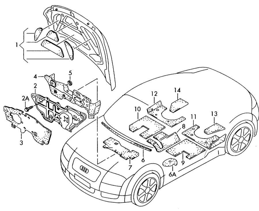 2001 Audi TT Coupe Windshield glass (laminated) rework if