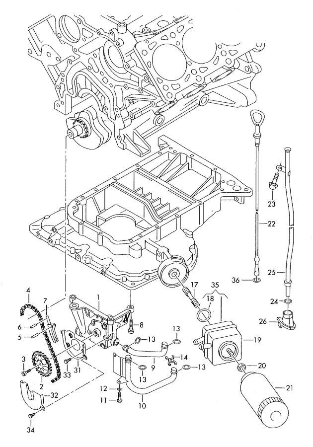 2004 Audi A6 Quattro Allroad Engine Oil Dipstick Tube. 2.7