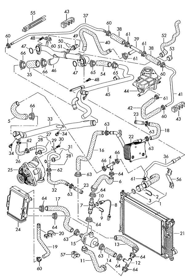 2002 Audi A6 Quattro Allroad Thermostat also use