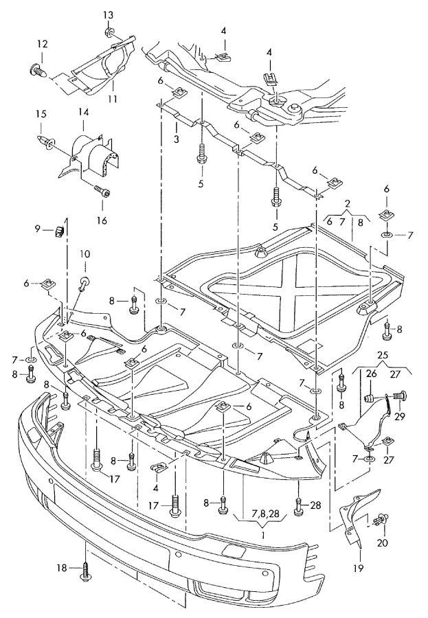 2006 Audi Radiator Support Splash Shield. 4.2 LITER
