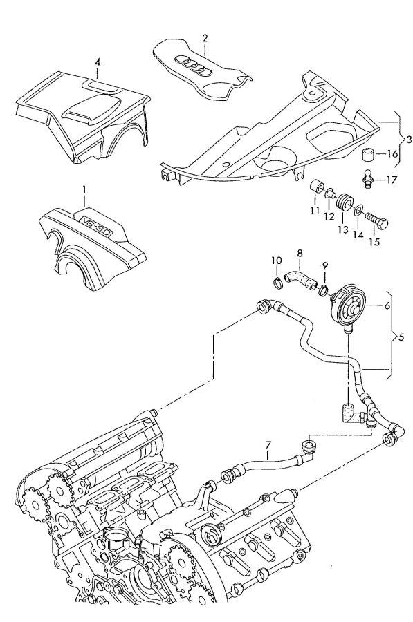 2003 Audi A4 Avant Vent tube. BREATHER TUBE. VENTILATION